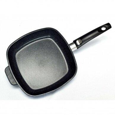 Сковорода квадратная со стеклянной крышкой VICTORIA INDUCTION 28x28 см - DE0500 28G 3