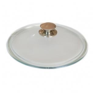 Stiklinis dangtis su metaline rankena 26 cm - Kcm 260