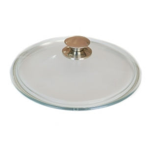 Stiklinis dangtis su metaline rankena 28 cm - Kcm 280